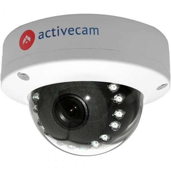 Купольная 2Мп IP-камера ActiveCam AC-D3121IR1 серии Eco с ИК-подсветкой для улицы