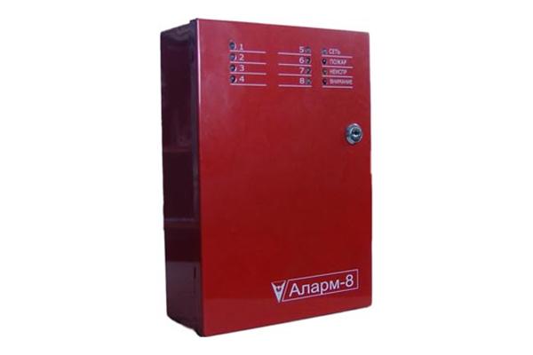 Прибор приемно-контрольный пожарный Аларм-8