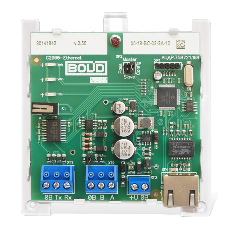 Преобразователь интерфейсов RS-485/RS-232 в Ethernet С2000-Ethernet