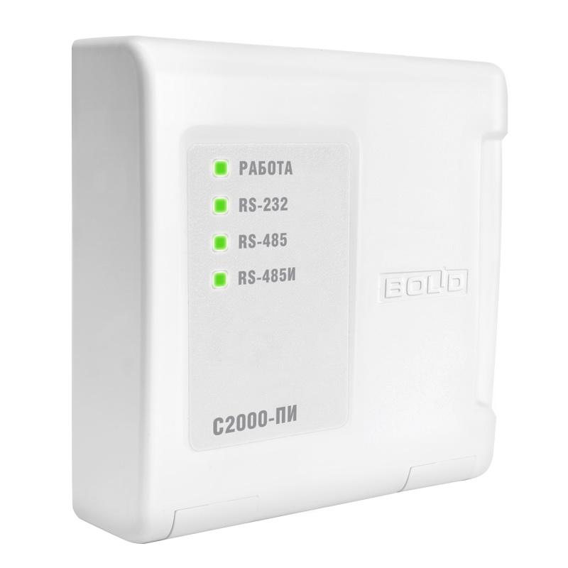 Преобразователь интерфейсов RS-232/RS-485, повторитель интерфейса RS-485 с гальванической развязкой С2000-ПИ