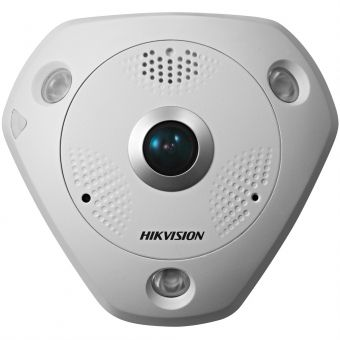 Уличная 6Мп IP-камера Hikvision DS-2CD6362F-IVS с объективом «рыбий глаз» и ИК-подсветкой