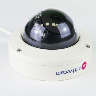 Компактный 4Мп сетевой купол ActiveCam AC-D3141IR1 с WDR 120дБ и Edge Storage
