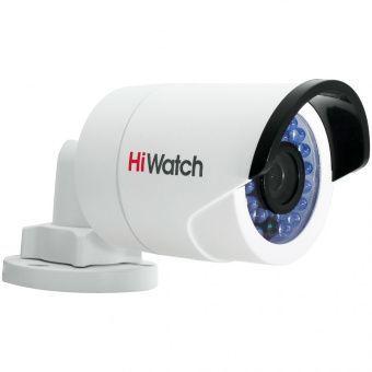 Уличная бюджетная миниатюрная IP камера-цилиндр 1.3Мп HiWatch DS-I120 с ИК-подсветкой